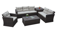 PAS-1502/2018 Hot Sale Outdoor Rattan Sectional Sofa Sets with Tables