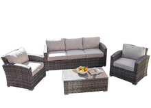PAS-068C/4PCS Outdoor All Weather Waterproof Rattan Furniture Sofa Set