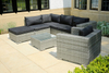 PAS-1119/L Shaped Poly Wicker Patio Garden Lounge Sofa Set