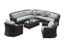 PAS-1641/Outdoor Riverside and Garden Rattan Corner Sofa Set