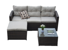 PAS-1505/3 Seat Settee Sofa Set with Foot Stool and Table