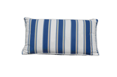Cushion-9/Blue and and White Striped Rectangular Back Cushion