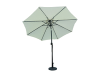 PLU-001-W/White LED Garden Market Umbrella