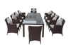 PAD-1103/ 10 Seat Outdoor Rattan Table and Chairs