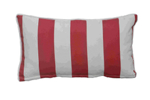 Cushion-5/Red and White Striped Rectangular Back Cushion