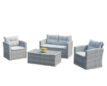 PAS-1225C/4PC Outdoor Wicker Patio PE Rattan and Garden Sofa Set