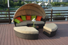 PAL-3286/Outdoor Detachable Wicker Round Daybed with Canopy