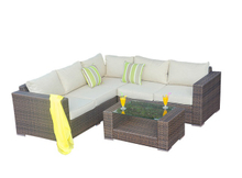 PAS-1115/New Design Economical L Shaped Rattan Garden Sofa